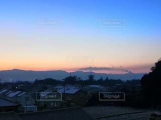 風景,屋外,朝日,雲,山,正月,お正月,日の出,お寺,新年,初日の出