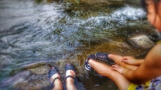 親子で水遊びの写真・画像素材[3540942]