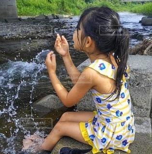 川遊びの写真・画像素材[3631622]