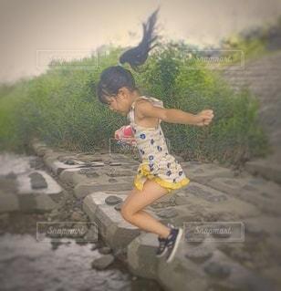 川遊びの写真・画像素材[3631642]