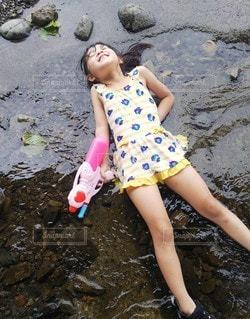 川遊びの写真・画像素材[3631654]