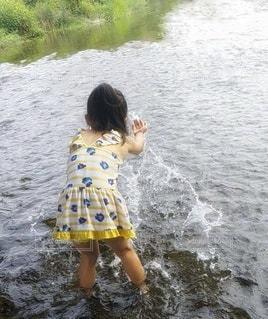 川遊びの写真・画像素材[3632606]