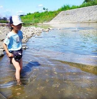 川遊びの写真・画像素材[3632642]