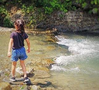 川遊びの写真・画像素材[3632730]