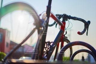 自転車のクローズアップの写真・画像素材[3522000]