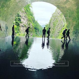 清津峡の写真・画像素材[3502871]