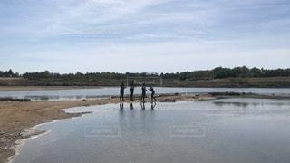 クロアチアのニンでセルフ泥パックの写真・画像素材[3535987]