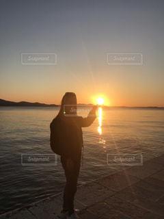 夕焼けの写真・画像素材[3544774]