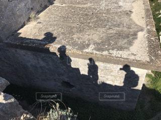 4人の影の写真・画像素材[3603993]