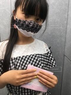 ハンドメイドマスクの写真・画像素材[3527027]