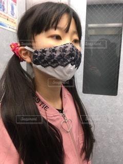 ハンドメイドのマスクの写真・画像素材[3565648]