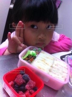 サンドイッチ弁当の写真・画像素材[3637544]