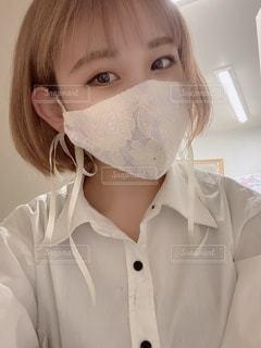 可愛いマスクで乗り切ろうの写真・画像素材[3545952]