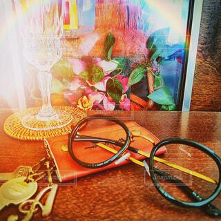 鍵とメガネ。の写真・画像素材[3652964]