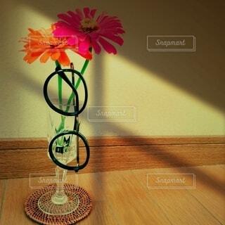 お花とメガネ。の写真・画像素材[3653132]