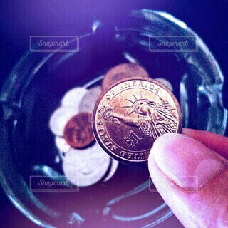 手持ち,人物,自由の女神,ポートレート,お金,ライフスタイル,コイン,手元,外貨