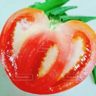 食べ物,ハート型,トマト,野菜,食品,オクラ,食材,フレッシュ,ベジタブル,半分