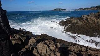 冬の日本海の写真・画像素材[3530500]