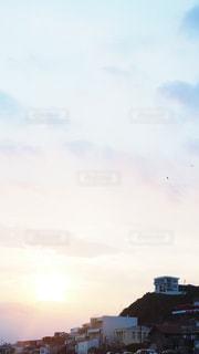 夕焼けか朝焼けの写真・画像素材[3535476]