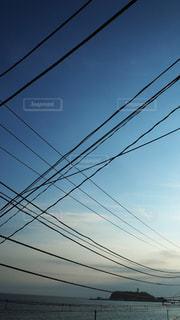 電線の写真・画像素材[3551695]