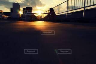夕日の写真・画像素材[3872716]