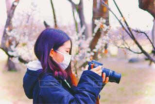 カメラ女子の写真・画像素材[3962562]