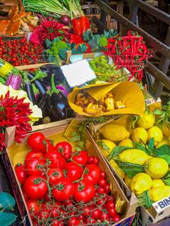 食べ物,果物,トマト,野菜,市場,レモン,食品,イタリア,マルシェ,唐辛子,フィレンツェ,食材,夏野菜,フレッシュ,ベジタブル,ナス,リンゴ,生鮮