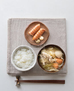 食べ物,おうちごはん,朝ごはん,おいしい,豚汁,ジョンソンヴィル