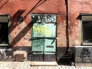 外国のドアの写真・画像素材[3552888]