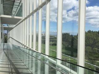 大きなガラス窓の写真・画像素材[3555178]