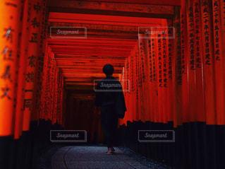 赤いトンネル。の写真・画像素材[776631]