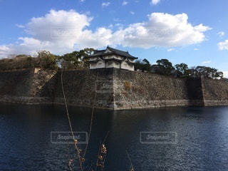 雲と大阪城の写真・画像素材[3575478]