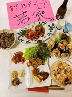 おうちで本格韓国料理の写真・画像素材[4175278]
