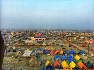 インドの街並みの写真・画像素材[3622282]