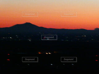風景,空,朝日,山,オレンジ,日の出,筑波山,奥武蔵