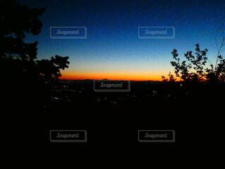 空,屋外,朝日,樹木,日の出,奥武蔵