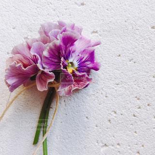 花,花束,フラワー,紫,フラワーアレンジ,ビオラ