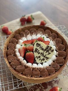 パパへ手作りバースデーケーキの写真・画像素材[4922583]
