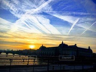 冬,街角,朝日,夜明け,鍵,旅,正月,愛,お正月,日の出,Paris,思い出,スナップ,新年,初日の出,レオポール セダール サンゴール橋