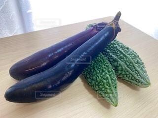 食べ物,野菜,食品,家庭菜園,新鮮,なす,ゴーヤ,栽培,食材,茄子,採れたて,フレッシュ,とれたて,ベジタブル,ナス,vegetable