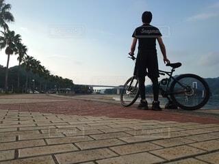 自転車ツーリングの写真・画像素材[3812068]