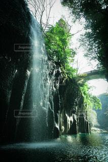 高千穂峡の絶壁の写真・画像素材[3628189]