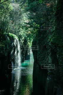 高千穂峡の滝の写真・画像素材[3628190]