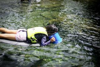 水中メガネで探索の写真・画像素材[3635606]