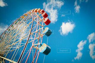 青い空の雲の群の写真・画像素材[3801463]