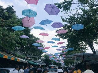 傘,屋外,旅行,タイ,マーケット,バンコク
