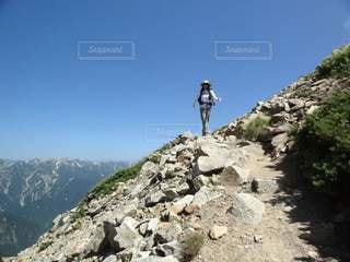 北アルプスの表銀座縦走コースの写真・画像素材[3603821]