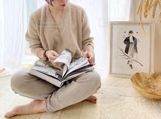 読書の秋の写真・画像素材[3699880]