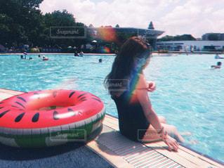 プールサイドの写真・画像素材[3608672]