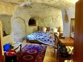 奇岩ホテル寝室の写真・画像素材[3639801]